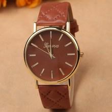 2015 new popular wrist watch vintage women wristwatches leather band quartz watch hot brand name gift