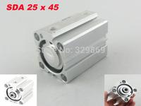 SDA 25mm Bore 45mm Stroke Pneumatic Air Cylinder 1.0MPa