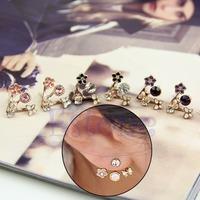 Lovely Korean Fahion Exquisite Love Letter Ear Stud Rhinestone Heart Earring Jewelry
