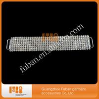 (50pieces/lot) Sparkly Rhinestone bikini connectors silver plating crystal rhinestone connectors