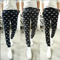 New Casual Men's Clothing Autumn Print Harem Pants Casual Sports Pants Trousers 3 Color 4 Size