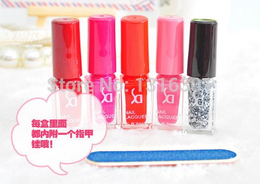 the latest nail polish, nail polish set five bottles of colorful suits(China (Mainland))