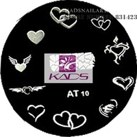 NEW AT Series AT10 LOVE Design Popular New Style Nail Art Stamp Stamping Image Template Plate Mold Gift