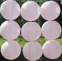 Free shipping 10pcs/lot 8''(20cm) Round paper lantern light pink paper lanterns lamps festival wedding decoration party lanterns