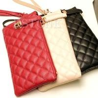New Arrive Fashion Women Faux Leather Satchel Handbags Rhombus Lattice Pattern Clutch Purse Bag