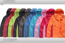 Solid Windbreaker Waterproof Windproof Men Cycling Jersey Wear Quick-drying New Fashion Woman Jacket Slim Thin Nylon Clothing(China (Mainland))
