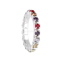 New Arrivals 2015 3 Pcs Elastic Single Row Multicolor Crystal Rhinestone Toe Ring Bridal Jewelry 3mm