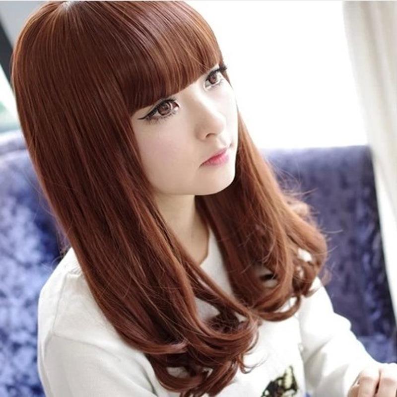 $802 70 см парик женский 4 цвет женские леди девушки мода длинные прямые