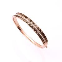 New Fashion Jewelry women 18K GP Gold Plated Round Crystal Cuff Bangle Bracelet B13