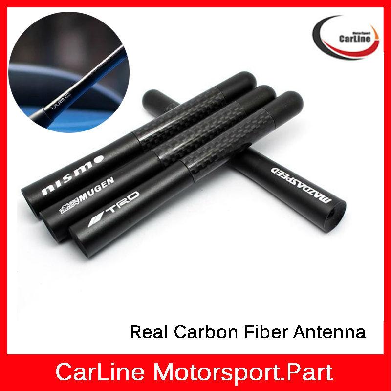 """Carbon Fiber Car Aerial Antenna,Essential Black Short 4.7"""" Inch Auto Car Antenna Radio Car Aerial Antenna For All Car Model(China (Mainland))"""