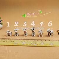 1/12 Dollhouse Miniature Furniture 6pcs dalmatians spotty dog Pet animal Toy puppy For Doll monster BJD