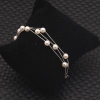 Hot Women Pretty Fashion Jewelry Simulated Pearl Chain Party Cuff Bracelets B15