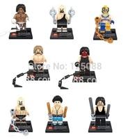 Free shipping 8pcs Super Heroes Avengers Wrestling people Action Mini figures building blocks Bricks Children Toys