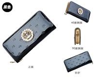 2015 Hot Sale New Wallets Carteira Masculina Ms. Autumn Large Zip Wallet Women Multifunction Handbag Purse free Shipping Crown