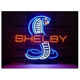 "NEW SHELBY COBAR AUTO HANDICRAFT NEON LIGHT BEER BAR PUB REAL GLASS TUBE SIGN 17x14""(China (Mainland))"