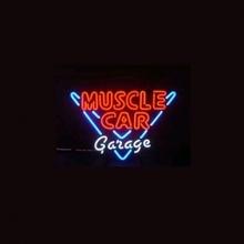 "NEW MUSCLE CAR GARAGE LOGO HANDICRAFT NEON LIGHT BEER BAR PUB REAL GLASS TUBE SIGN 17x14""(China (Mainland))"