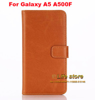 Mobile Phone Leather Case Stand Cover Cell Phone Case Pouch For Samsung Galaxy A5 A500F A5000