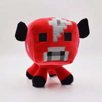 2015 New Minecraft toys red cow design kids plush toys Genuine animal stuffed toys Baby Toys whie color 14.5 CM Xmas Gift