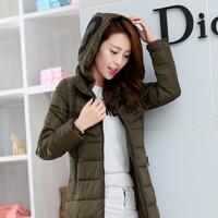 2015medium-long with a hood down coat female fashion women's fashion long-sleeve thickening down coat