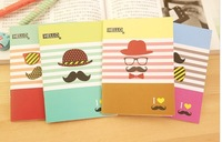 Creative stationery  Cute Moustache notebook notepad small book 6042al