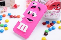 10pcs/lot silicone M&M Fragrance Chocolate Case For iphone6G 4.7' for  iphone 6plus 5.5 inchM Rainbow Beans cover case