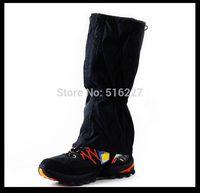 Free Shipping 1 Pair Black Waterproof Outdoor Hiking Walking Climbing Hunting Snow Legging Gaiters