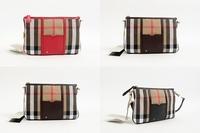 DA425 B New fashion Grid plaid Canvas leather zipper Patchwork cluth handbag Messenger Bag wholesale drop shipping free shipping