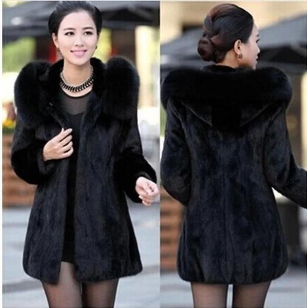 HOT ! 2015 new women's fur coats rabbit fur coat ladies short jacket coat ladies wool coat long body Fashion woman's best choice(China (Mainland))