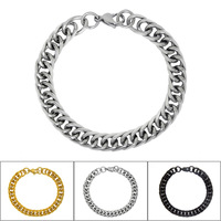 3 Colors Free Shipping High Grade fine jewelry Titanium steel men's jewelry Vintage design Bracelet for Lovers