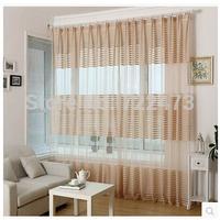 fashion stripe curtain window screening curtain high quality balcony curtain yarn finished product sheer curtain living room