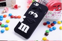 dropshipping silicone M&M Fragrance Chocolate Case For iphone6G 4.7' for  iphone 6plus 5.5 inchM Rainbow Beans cover case