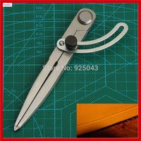 New Best Adjustable Leather Scriber Compasses Leather Overstitch Wheel Leather Stitch Hole Distance Gauge Divider