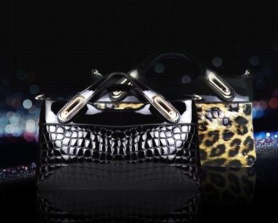 2015 Fashion women messenger bags Genuine leather leopard single shoulder bag dengan Chains bolsas mochilas femininas 9820924-1(China (Mainland))