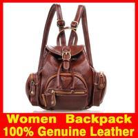 2015 New Women Backpack Genuine Leather Cute Fashion Girl Mini backpacks for women's mochila feminina