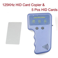 NEW Portable 125KHZ RFID Reader Writer & 5 H-ID Cards Copier Duplicator Duplicate for Access Control Free Shipping