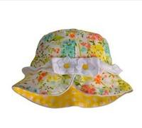 2015 New Children Caps Full Flower Hat Summer Sunbonnet  Bucket Colorful Flowers Girls Beach 5 Size  46cm,48cm,50cm,52cm,54cm