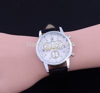 100pcs New Quartz Men Watches Fashion&Casual Luxury Leather Watch Elegant Sports Out Door Wristwatch relojio Hot Sale! Free Ship