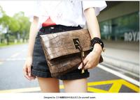 New arrive vintage women clutch bag PU leather ladies evenlop clutch messenger bag