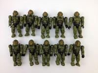wholesale 100pcs Mega Bloks UNSC Spartan Operator HALO Series 8 brick Minifigure