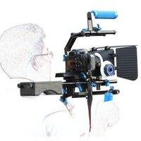 Dslr rig movie kit with shoulder mount+Hand Grip+Follow Focus+Matte Box+C Shape Support Cage +15mm Rod Rail For Camcorder DSLR