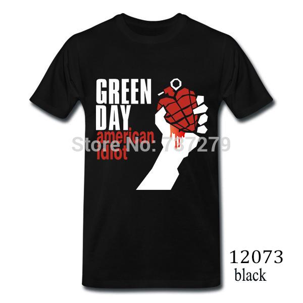 Summer New Tshirt GREEN DAY Printed T Shirt Mens Casual Fitness Cotton Tee Shirts O Tops Short Sleeve Clothing Man Camisetas(China (Mainland))