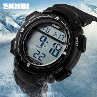 Free shipping 2015 fashion casual Men Personality watch Multifunctional waterproof Digital Electronic Wristwatches Black--ytr