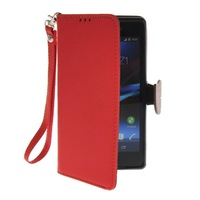 Litch Skin Premium PU Leather Wallet Pouch Flip Bracket TPU Case Cover For Sony Xperia Z1 L39h