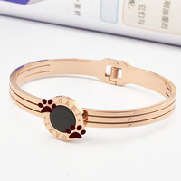 Three wire Vinyl treasure rose gold bracelet 14k Rose Gold