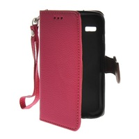 Litch Skin Premium PU Leather Wallet Pouch Flip Bracket TPU Case Cover For Motorola Moto G