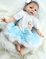 "Fashion Baby Doll  22""/55cm  Realistic Soft Silicone Reborn Bonecas Baby Alive Brinquedos For Kids"