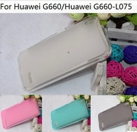 80 PCS/LOT, Fashion Semi Transparent Pudding Case For Huawei G660 G660-L075,Safe TPU Cover,Mix Color Support,Free shipping