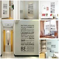 Free shipping 60x90cm Family Rules Big PVC Vinyl Wall Decoration Decal Sticker Wallpaper Home Decor 8dhki