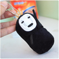 Anime Cartoon Spirited Away No Face Plush Toy Doll with Ring Soft Stuffed Doll 10pcs/lot Free Shipping