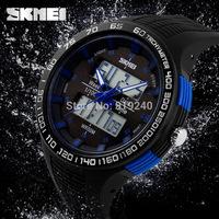 Free shipping 2015 fashion casual Men Personality watch Multifunctional waterproof Digital Electronic Wristwatches 4 colors--tre